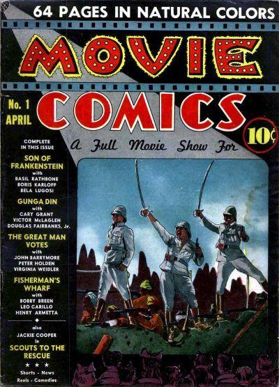 Movie Comics #1 April, 1939