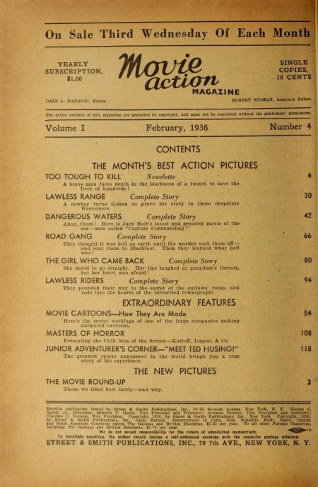 Movie Action Magazine February 1936 1