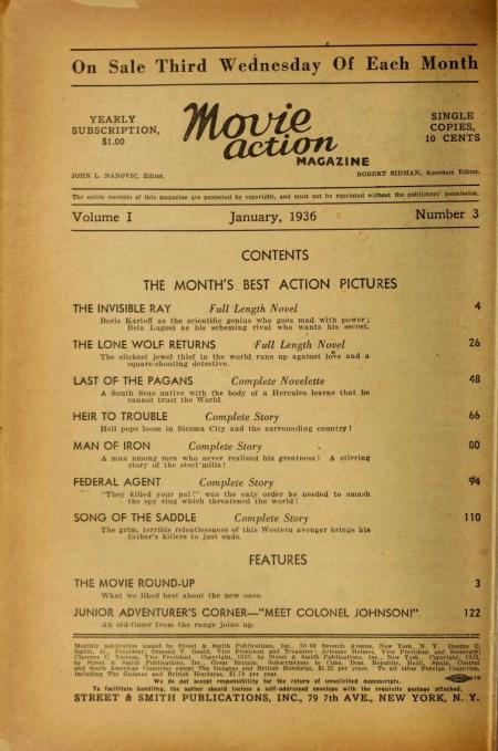 Movie Action Magazine January 1936 1