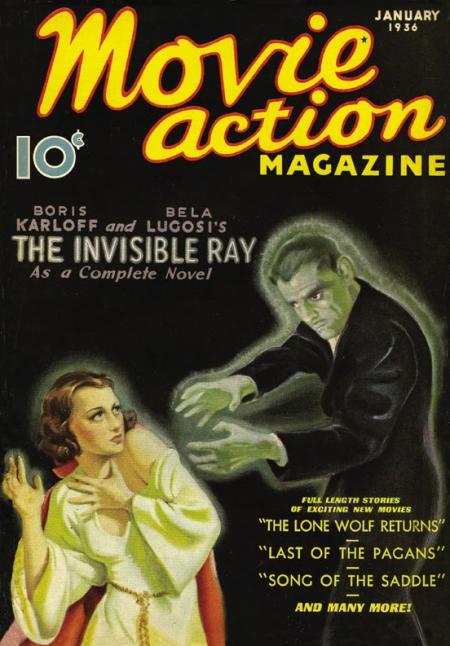 Movie Action Magazine January 1936 Cover
