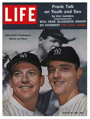 Mickey Mantle & Roger Maris on the cover of Life magazine, August 18 1961