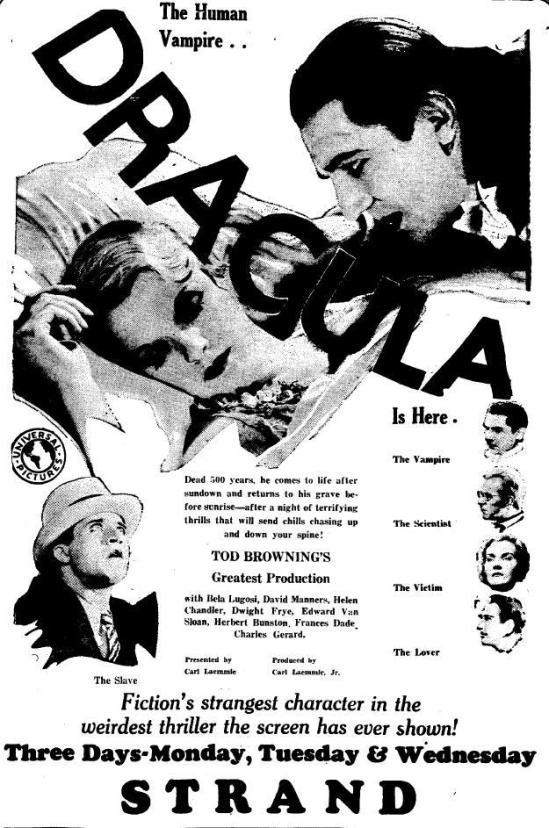 Dracula Unknow newspaper 1