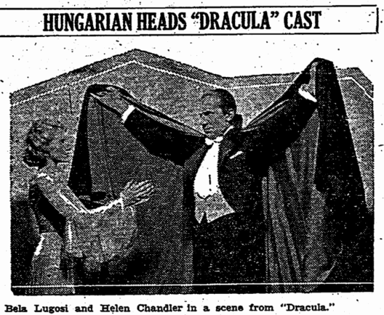Dracula, Aberdeen Daily News, February 7, 1932 2