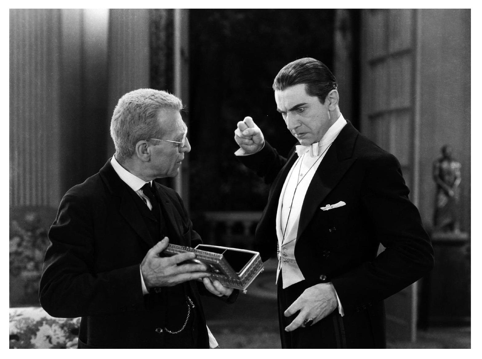 Dracula Edward Van Sloan and Bela Lugosi