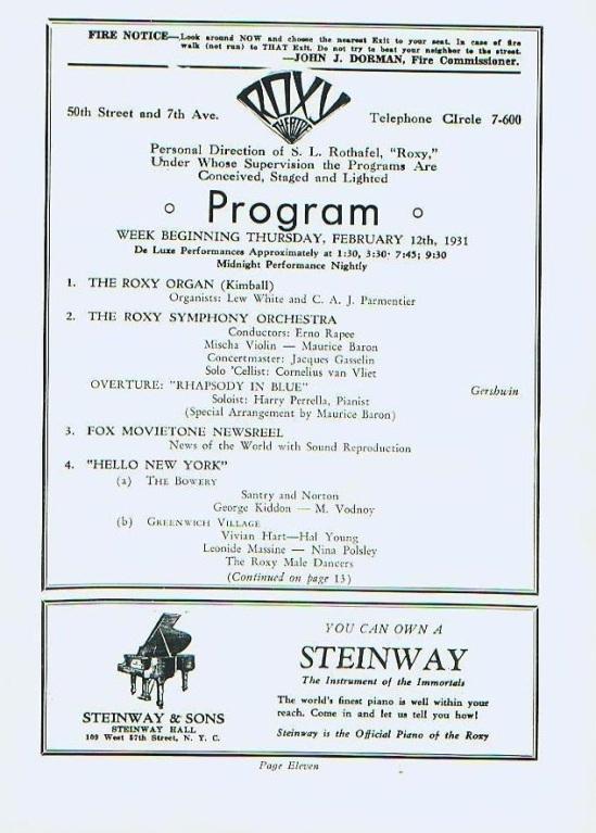 Dracula Roxy Theatre Programme 2