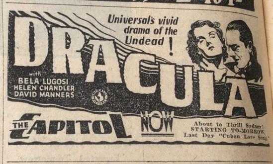 Dracula Sydney newspaper February 18, 1932 2