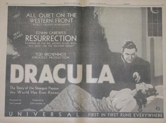 Dracula, Variety, November 5, 1930