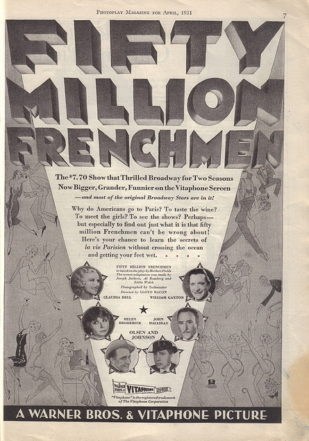 Fifty Million Frenchmen Photoplay Magazine, April, 1931