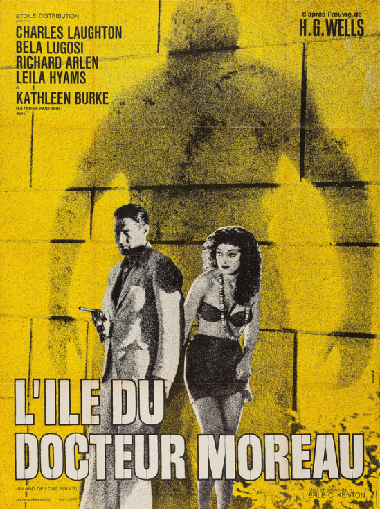 Island of Lost Souls 1970 Re-Release French Grande