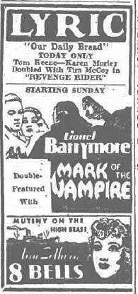 Mark of the Vampire unknown newspaper