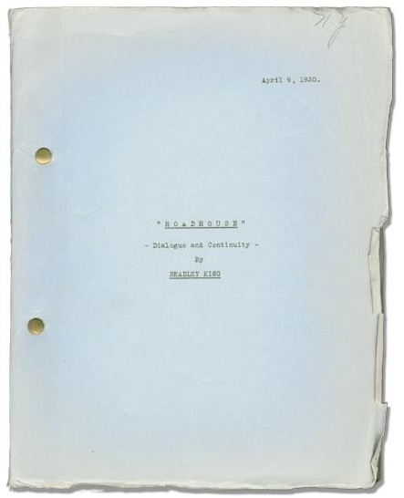 Roadhouse - Wild Company Script April 9, 1930