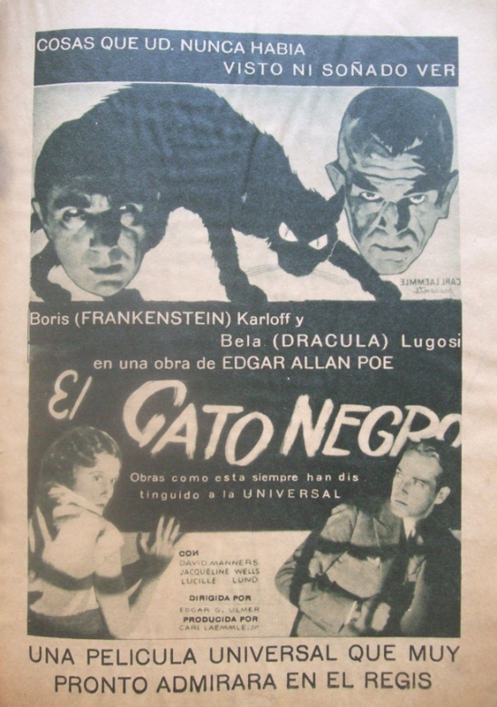 The Black Cat, Filmografico (Mexico) June 1934