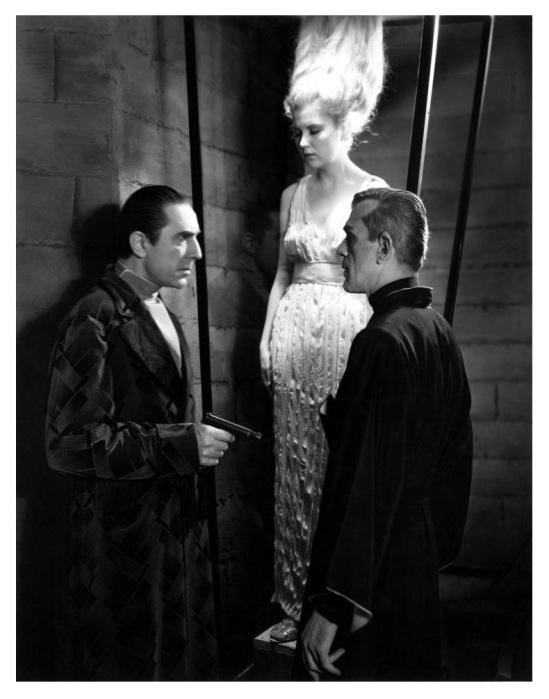 Bela Lugosi, Lucille Lund and Boris Karloff
