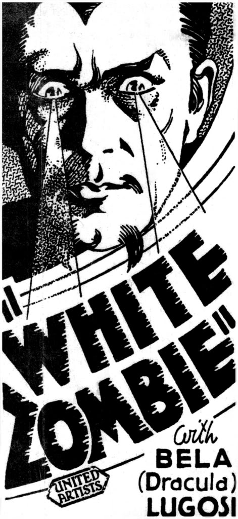 White Zombie Advertising Block