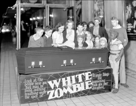 White Zombie display at the Ben Ali Theatre, which was located at 121 East Main 27.9.1932, Lafayette Studios collection #1394a