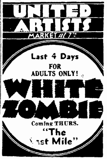 White Zombie, San Francisco Daily Chronicle, December 11, 1932
