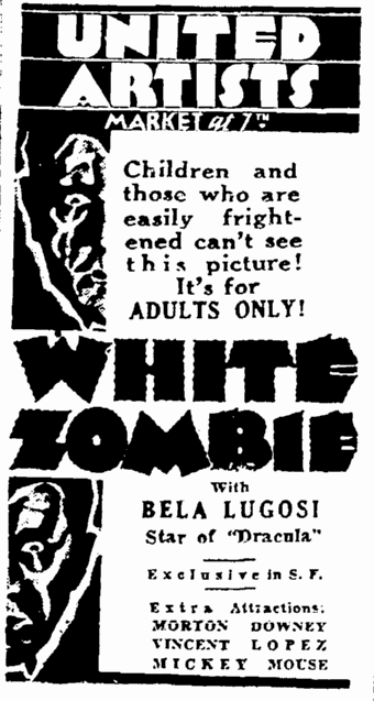 White Zombie, San Francisco Daily Chronicle, November 30, 1932 2