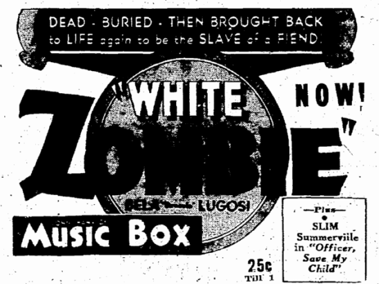 White Zombie, Seattle Daily Times, November 7, 1932