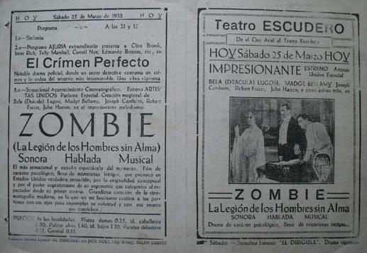 White Zombie Spanish Heral 2