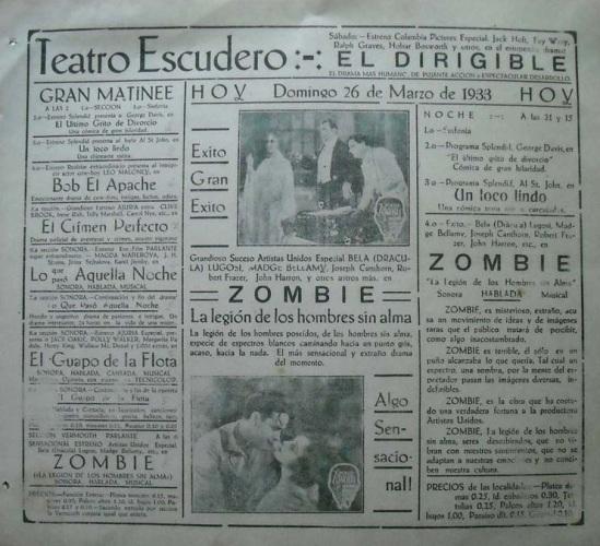 White Zombie Spanish Heral 3