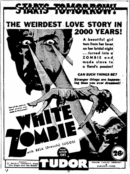 White Zombie, The Times-Picayune, September 1, 1939