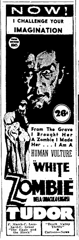 White Zombie, The Times-Picayune, September 4, 1939