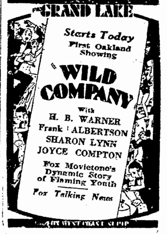 Wild Company, San Francisco Chronicle, September 28, 1930 2