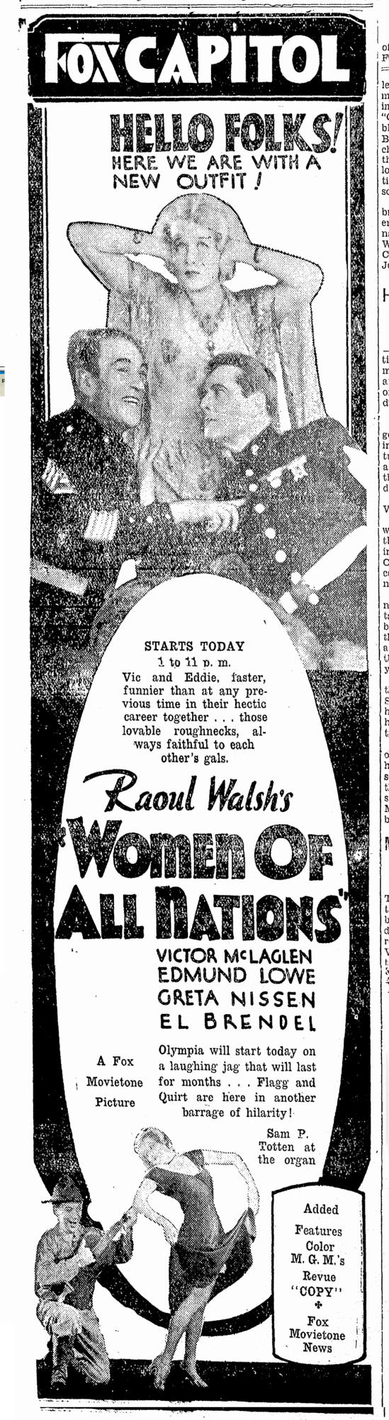 Women Of All Nations, Morning Olympian, June 14, 1931