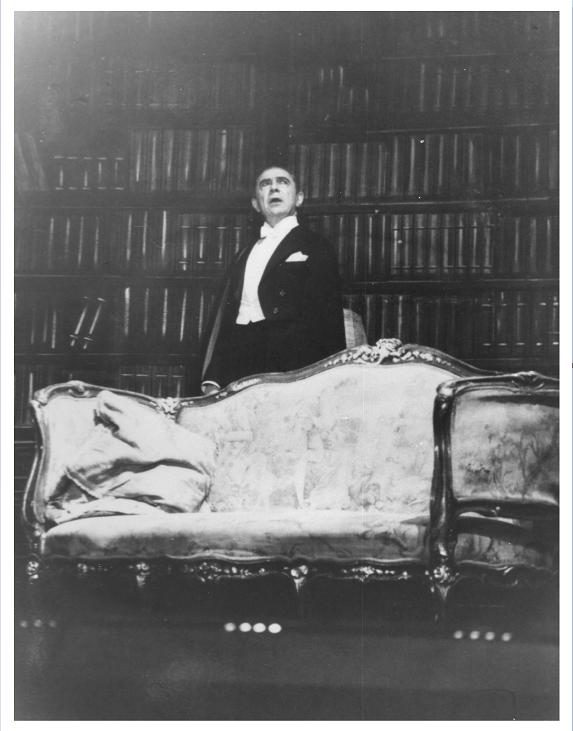 Bela Lugosi in the British Tour of Dracula
