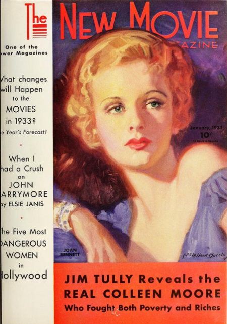 The New Movie Magazine, January 1933, Cover