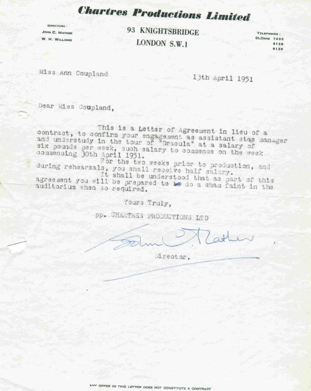Ann Coupland Contract