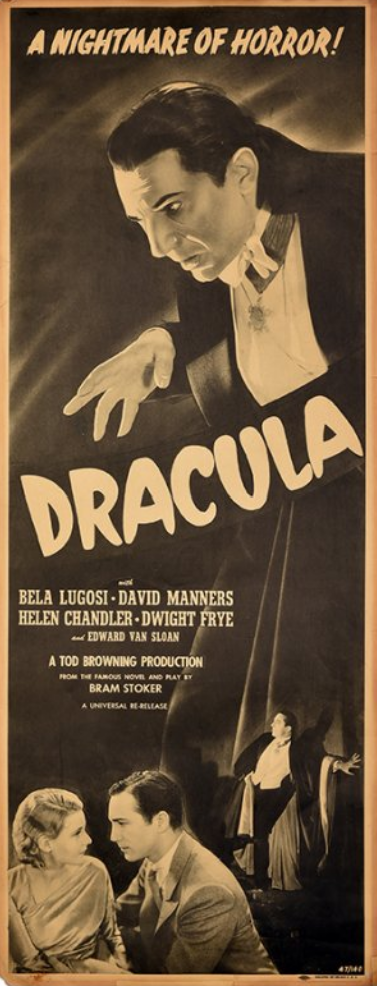 Dracula 1947 Re-release Insert Posternknown Universal re-release insert previously unknown Universal re-release insert