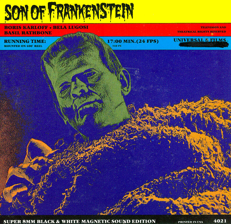 Image result for universal eight super 8mm son of frankenstein