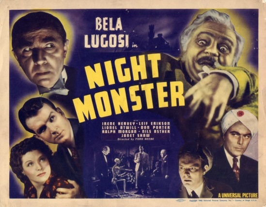Night Monster Title Lobby Card