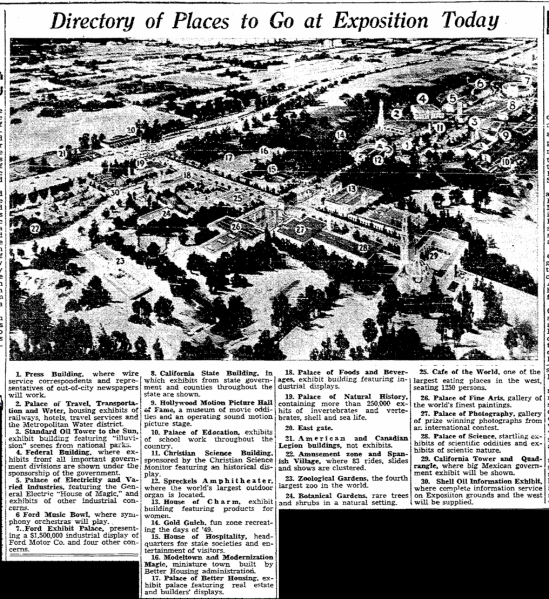 San Diego Expo, San Diego Union. May 29, 1935 2