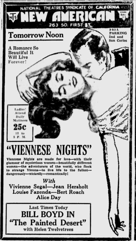Viennese Nights, San Jose News, March 4, 1931 2