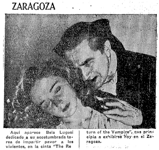 Return of the Vampire, Prensa, June 25, 1944