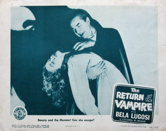 The Return of the Vampire 1948 Lobby Card