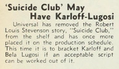 The Suicide Club, The Hollywood Reporter, March 14, 1934