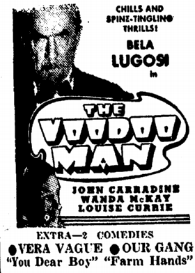 The Voodoo Man, Daily Illinois State Journal, March 19, 1944