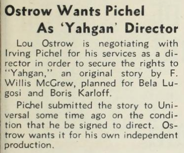 Yahgan, The Hollywood Reporter, June 7, 1934