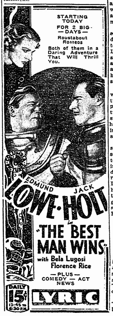 Best Man Wins, Aberdeen Daily News, March 24, 1935