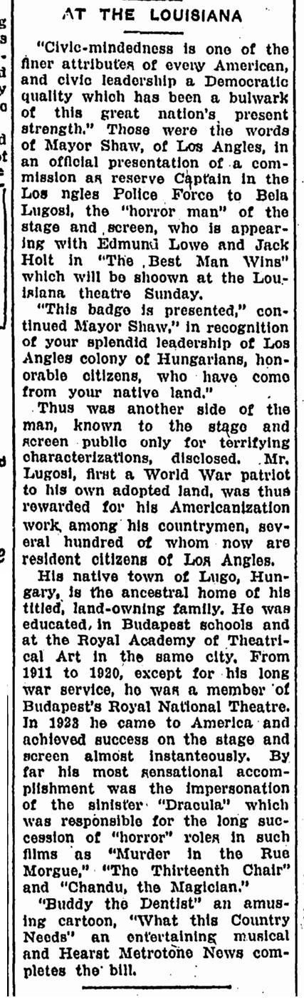 Best Man Wins, Advocate , March 9, 1935