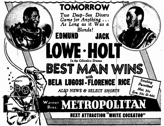 Best Man Wins, Evening Star, January 24, 1935