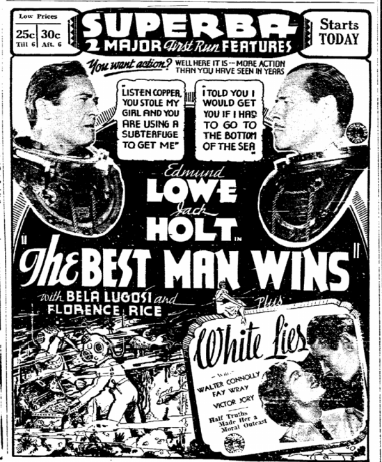 Best Man Wins, Evening Tribune, January 29, 1935