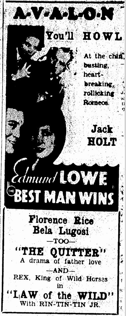 Best Man Wins, Morning Olympian, March 1, 1935