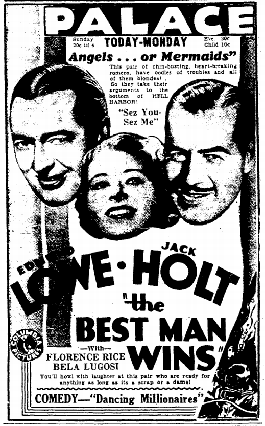 Best Man Wins, Rockford Morning Star, March 10, 1935