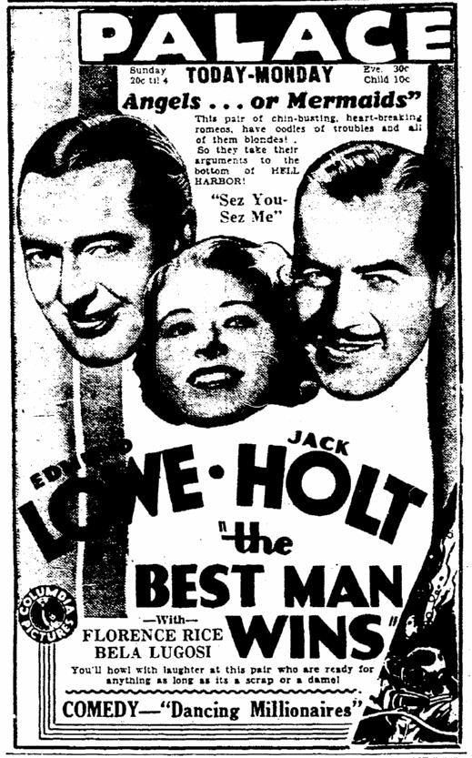 Best Man Wins, Rockford Morning Star, March 10, 1935