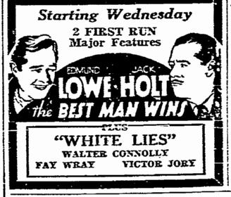 Best Man Wins, San Diego Union, January 28, 1935