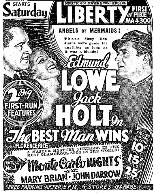Best Man Wins, Seattle Daily Times, March 21, 1935